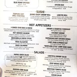 photo of pappadeaux seafood kitchen houston tx united states menu - Pappadeaux Seafood Kitchen Menu