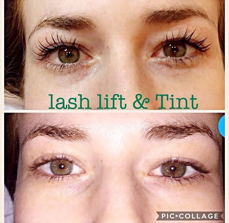 My Before And After Pictures Of A Lash Tinting And Perm I Never