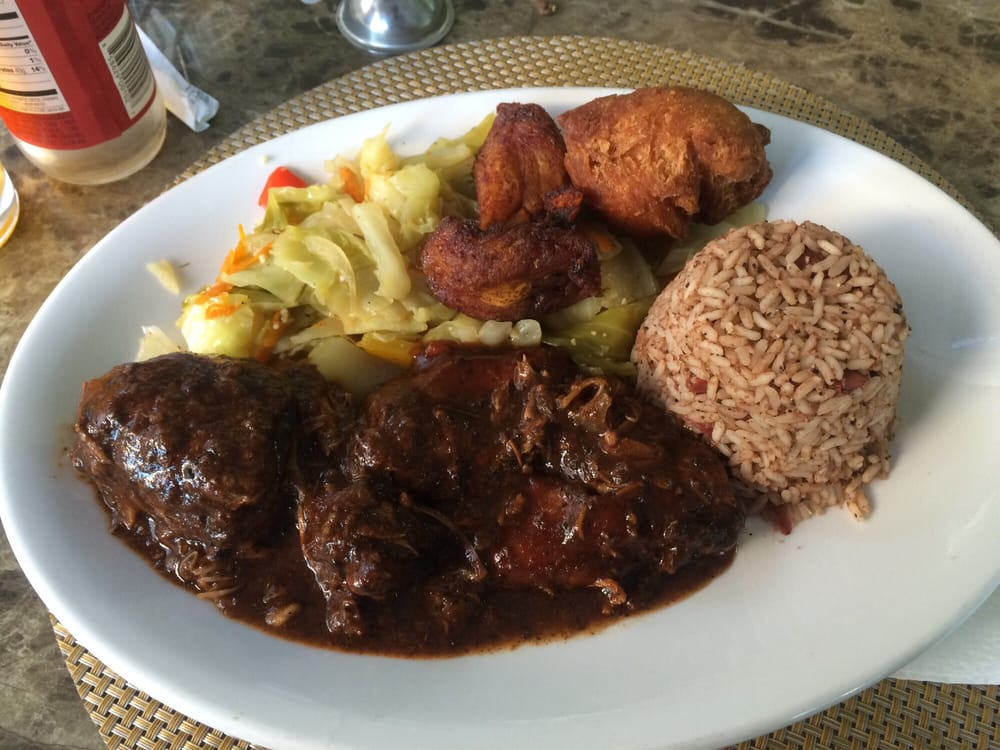 Jerk bbq chicken yelp for Ackee bamboo jamaican cuisine los angeles ca