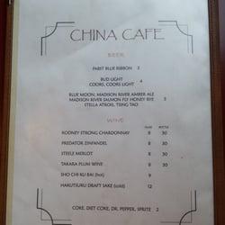 China Cafe Big Sky Mt Menu