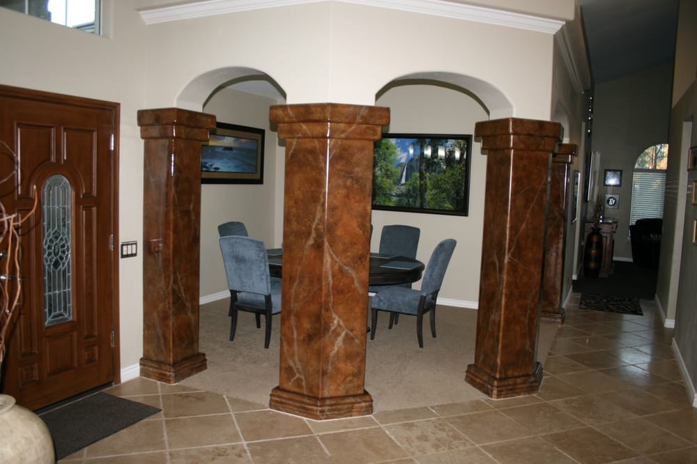 Delightful Faux Painted Columns Part - 11: Photo Of Lisa Bryant Faux Finishes - Temecula, CA, United States. Faux  Painted