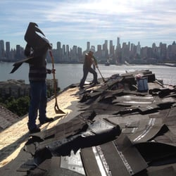 Photo Of Three Brothers Roofing   Palisades Park, NJ, United States.  Removing Old