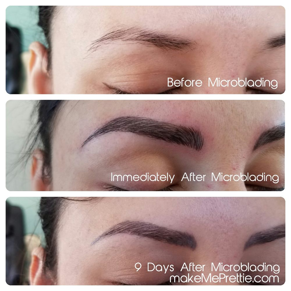 Microblading 3d Hair Strokes: Before After Microblading La Los Angeles 3d Eyebrows 3d