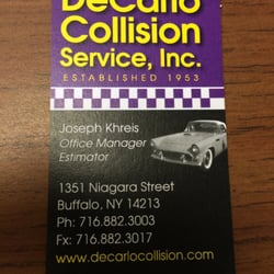 Decarlo collision and auto painting body shops 1351 niagara st photo of decarlo collision and auto painting buffalo ny united states updated reheart Gallery