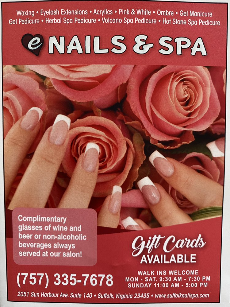 E Nails and Spa: 2051 Sun Harbour Ave, Suffolk, VA