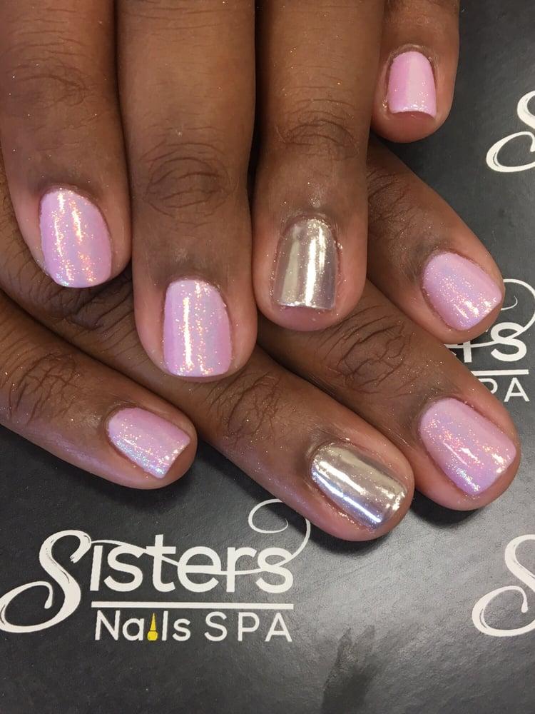 Birthday Nails on fleek Fairy dust and chrome ! Thanks Tammy . - Yelp