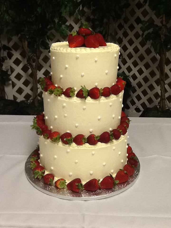 Strawberry Wedding Cake - Yelp