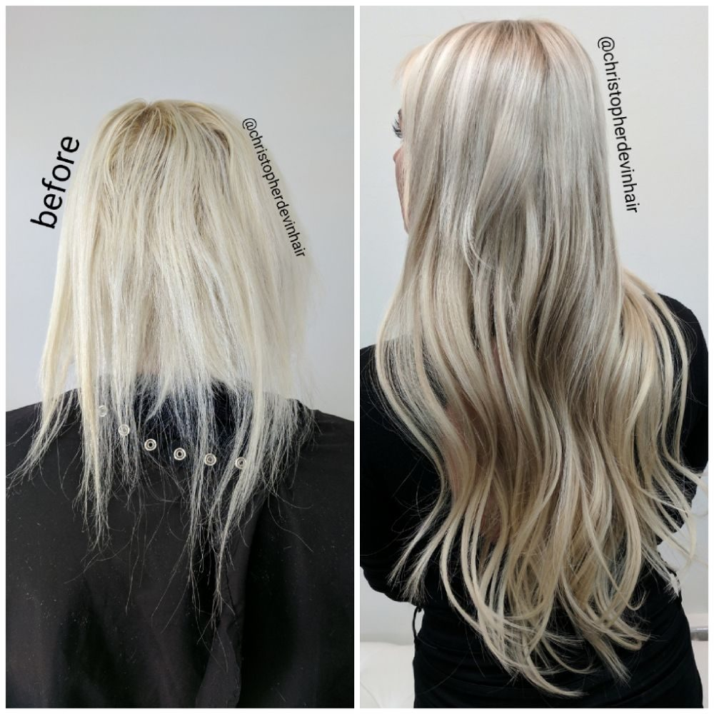 Hair Extensions And Hair Color Makeover Fixed Thin Damaged And