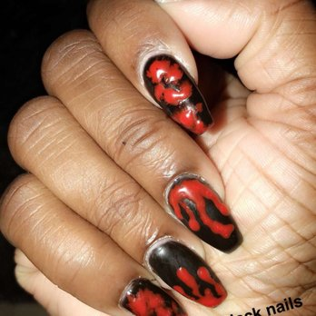 photo of forever nails oakland ca united states halloween nails dripping
