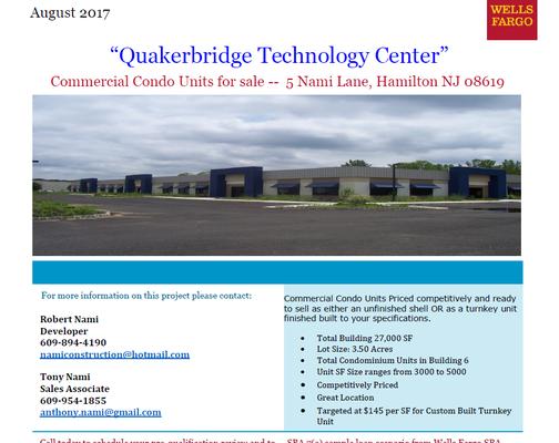 Quaker Bridge Technology Center 5 Nami Ln Trenton, NJ