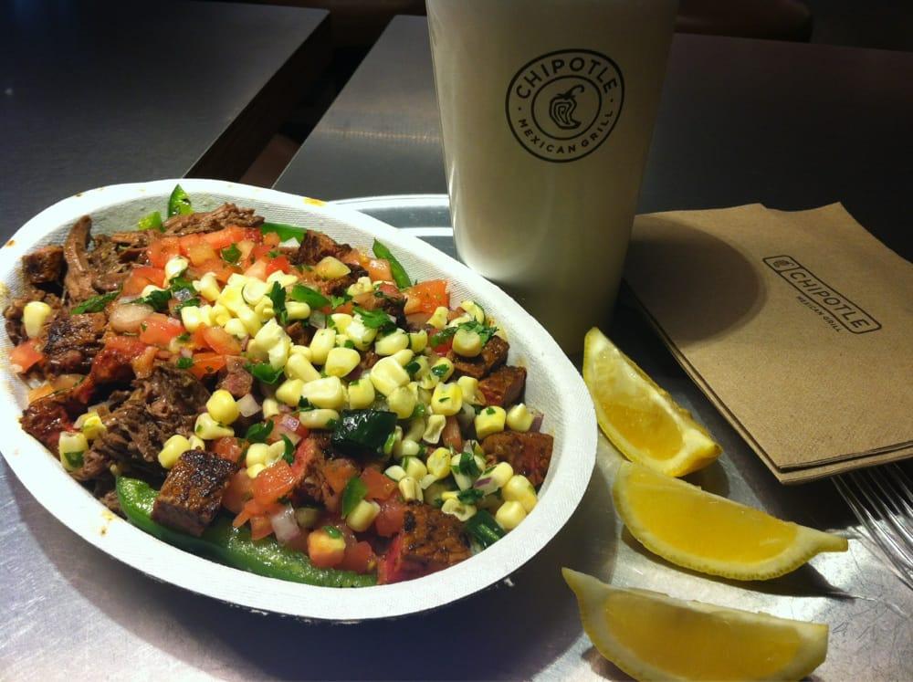 Steak & Barbacoa burrito bowl - Yelp