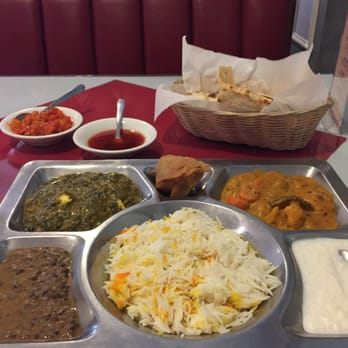 Photo of Village Of India Restaurant - Columbia, SC, United States.  Vegetable Thali