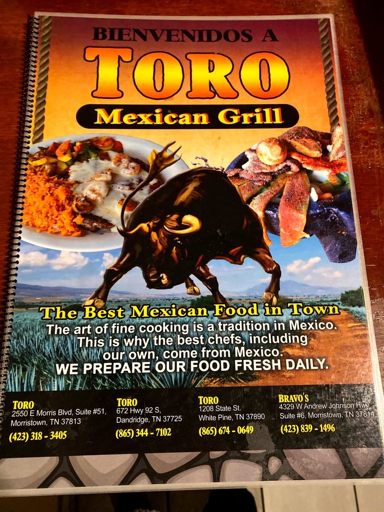 Toro Mexican Grill: 1208 State St, White Pine, TN
