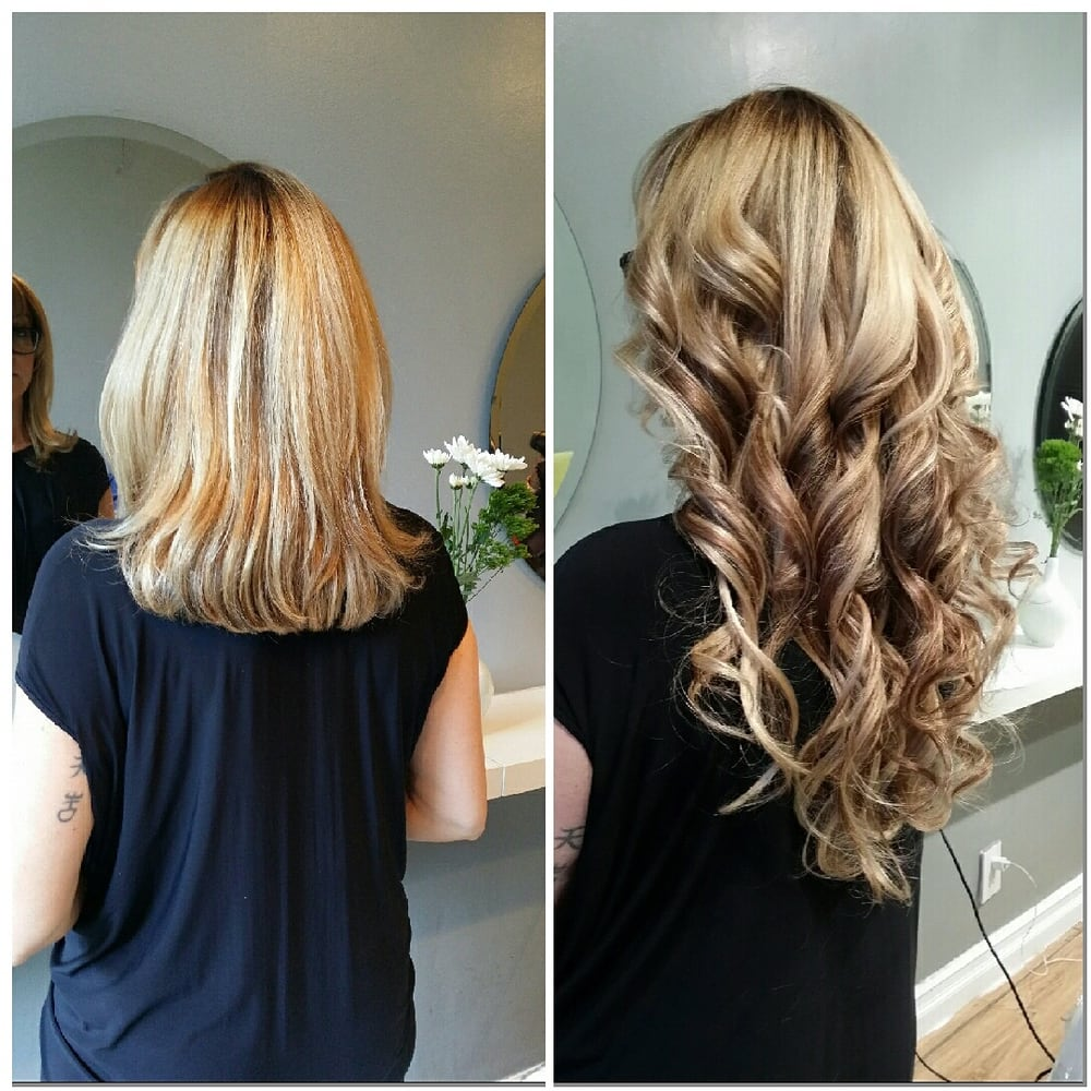 We Can Match The Hair Extensions Flawlessly To Your Highlights