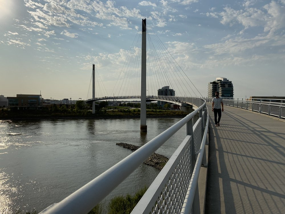 Bob Kerrey Pedestrian Bridge: 705 Riverfront Dr, Omaha, NE