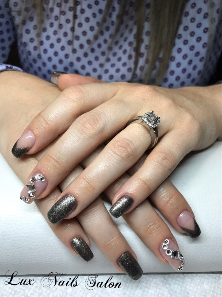 Acrylic set swarovski crystals yelp for Acrylic nail prices at a salon