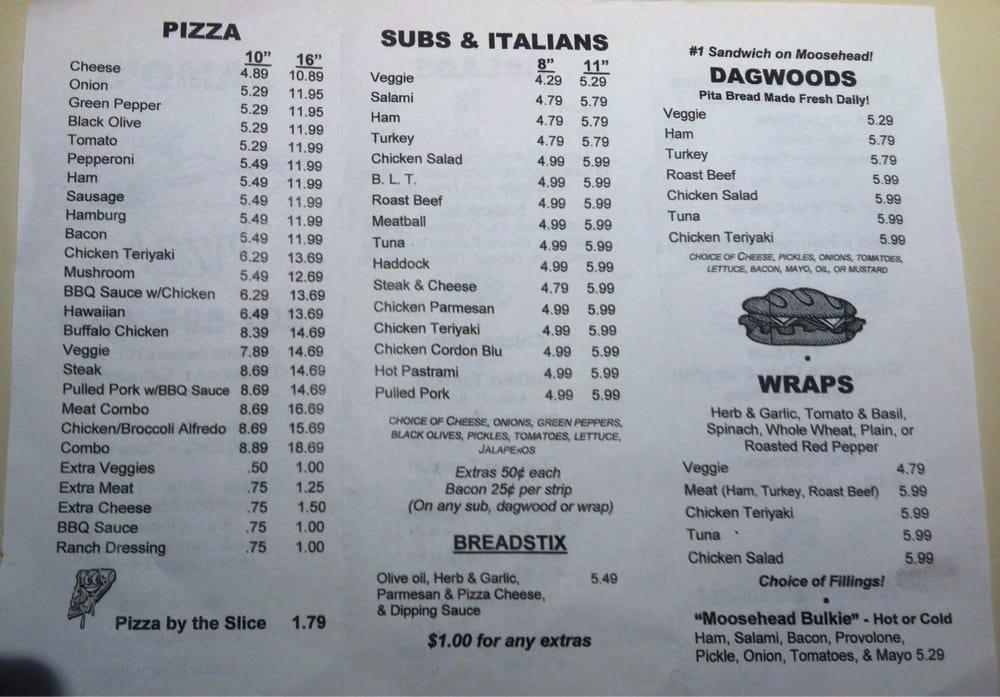 Jamo's Pizza: 34 Pritham Ave, Greenville, ME