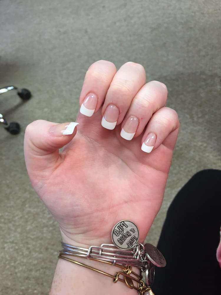 Gel full set with French-no pink - Yelp