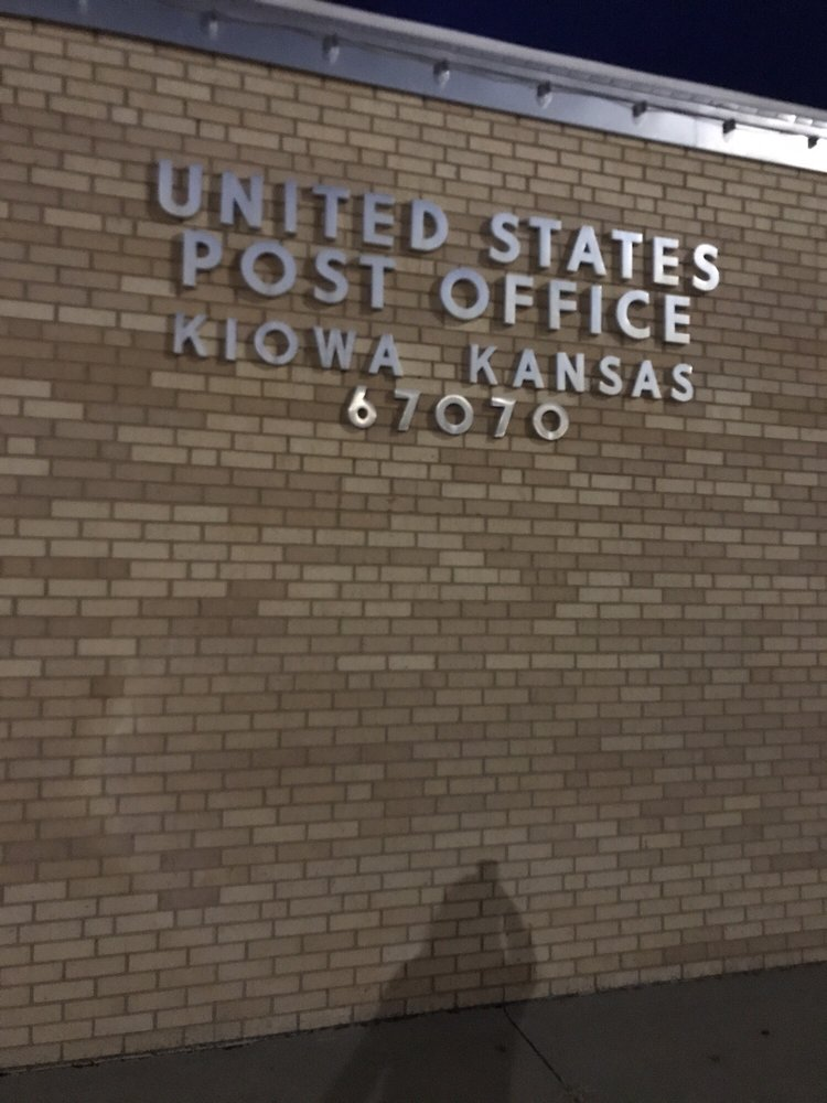 US Post Office: 602 Main St, Kiowa, KS