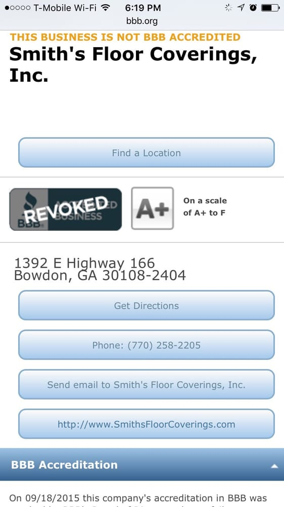 Smith's Floor Coverings: 1392 E Hwy 166, Bowdon, GA