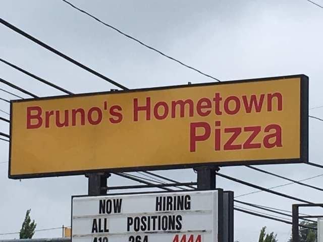 Bruno's Hometown Pizza: 9155 University Blvd, Moon Township, PA