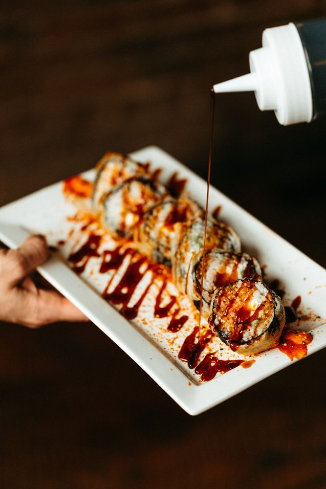 Food from Hooked Sushi