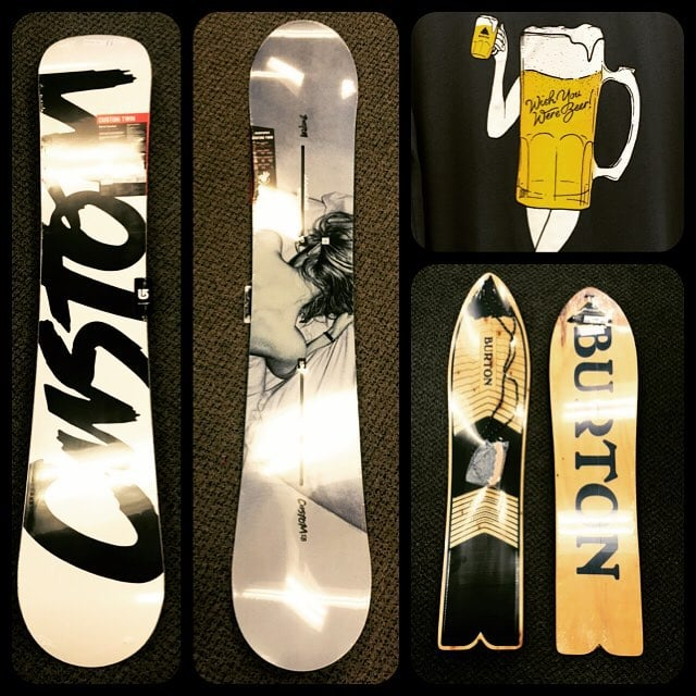 Snowboards from Burton, Rome, Lib Tech, GNU, Capita, Never