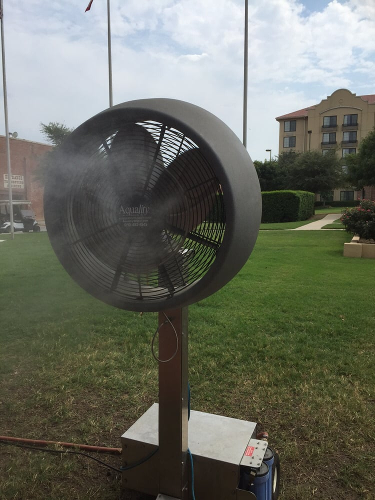 Misting Fans Texas : Keeping cool in the texas heat water mist fans yelp