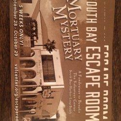 South Bay Escape Room Mortuary Mystery Temp Closed