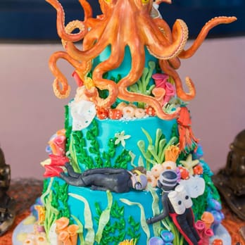 Photo Of CAKE   San Diego, CA, United States. Our Octopus Wedding Cake