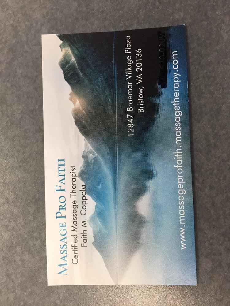 Massage Pro Faith: 12847 Braemar Village Plz, Bristow, VA