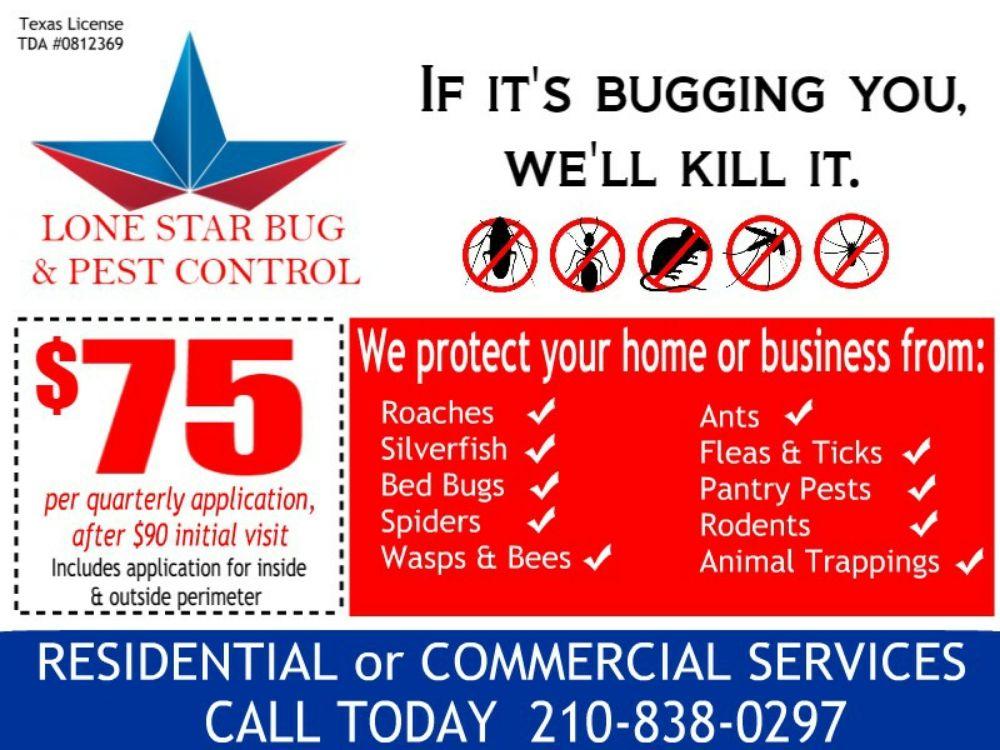 Lone Star Bug & Pest Control: San Antonio, TX