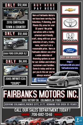 Fairbanks Motors Inc Car Dealers 3200 Victory Dr Columbus Ga