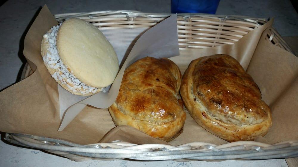 Maria Empanada - Denver, CO, United States. Alfajor and ham and cheese empanadas