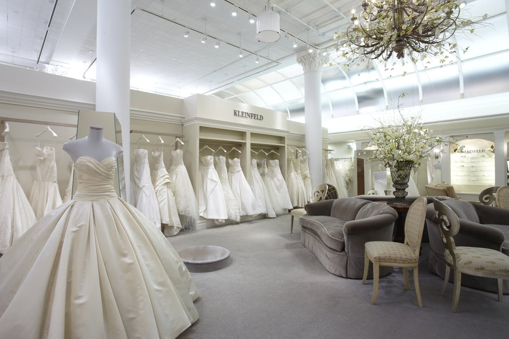 A peek inside the kleinfeld bridal salon yelp for Wedding dress boutiques in nyc