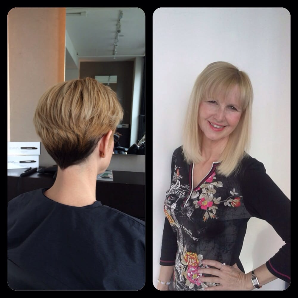 Great Lengths Before And After. Pixie Cut To Mid-Length