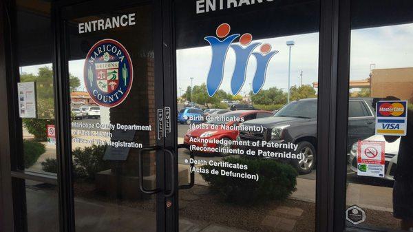 Maricopa County Office of Vital Registration 4419 E Main St Ste 105 ...