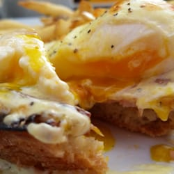 Photo Of Crema Cafe Seal Beach Ca United States Clsssic Egg Benedict