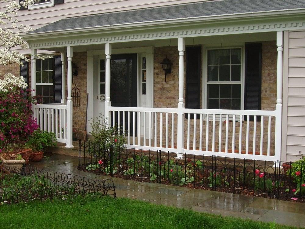 vinyl pin posts porch front columns and