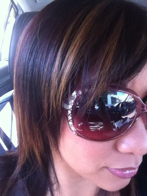 My caramel peek a boos before they get turned pink my next for A salon paul mitchell san diego