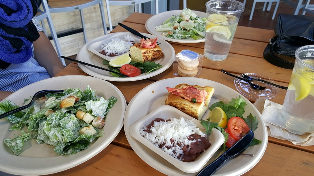 REX's SEAFOOD : Split order Lobster Roll with Red Beans & Rice, Caesar Salad - Yelp