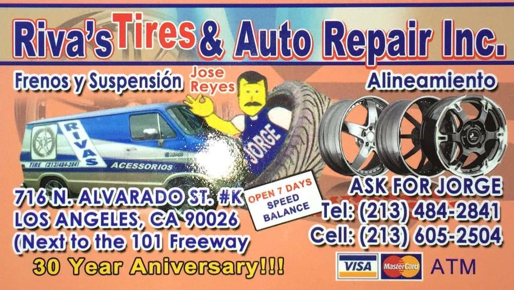 Rivas Tires & Auto Repair Business Card - Yelp