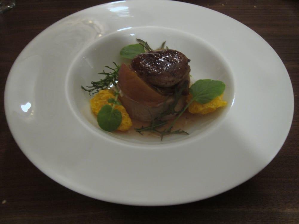 seared foie gras torchon brioche peaches mandarin yelp. Black Bedroom Furniture Sets. Home Design Ideas