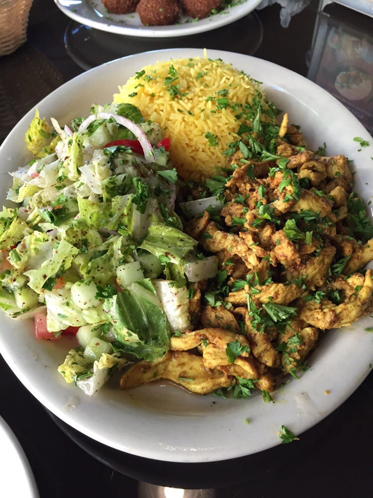 how to eat platter shawarma