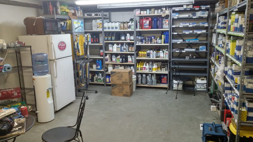a full stocked and organized parts room organization is