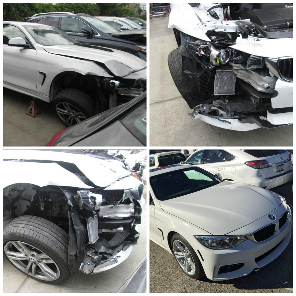 2014 Bmw 428i Front Right Damage Before And After Repairs