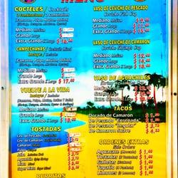 Mariscos Food Truck Menu