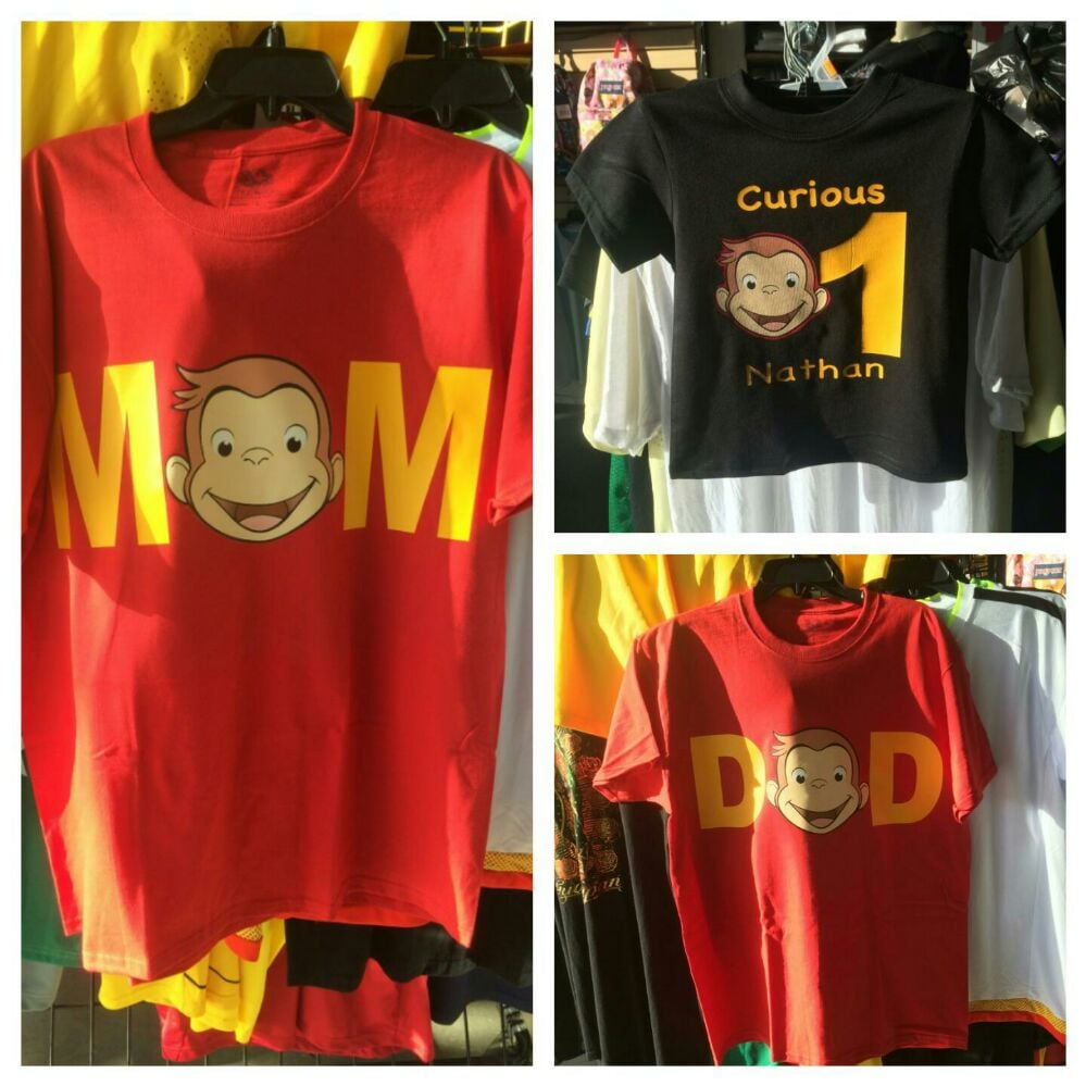 Custom Birthday Shirts MomDad And Boy Curious George 25 Each
