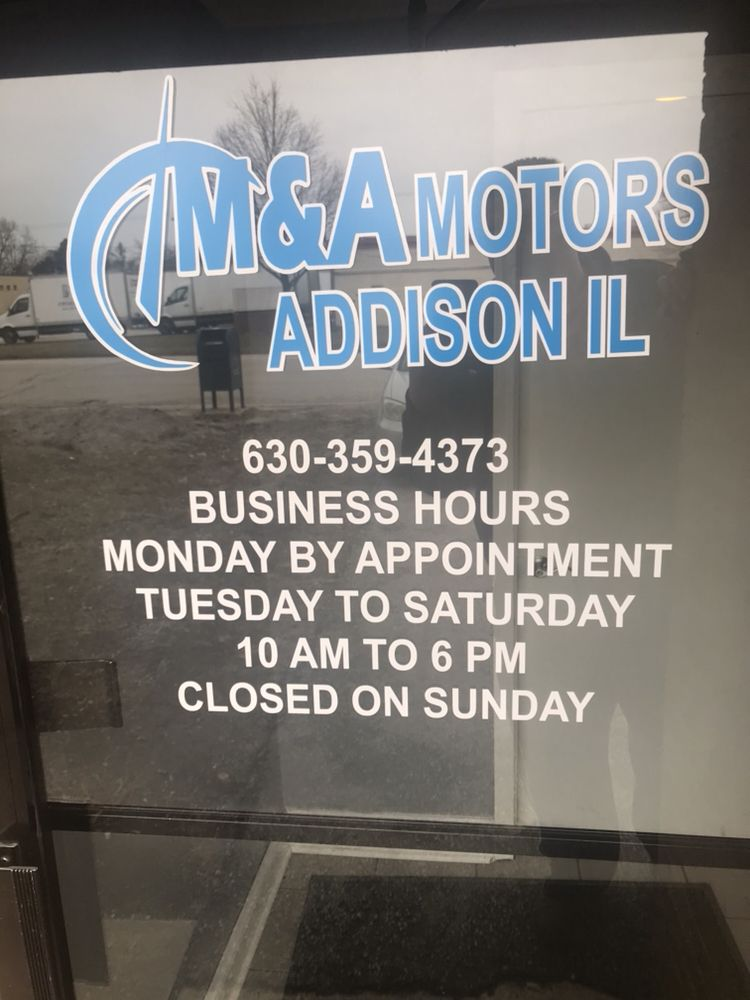 M&A Motors: 411 W Factory Rd, Addison, IL