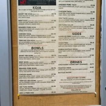 KoJa Kitchen Take out 1306 s & 674 Reviews